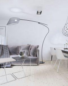projekt salonu w lofcie